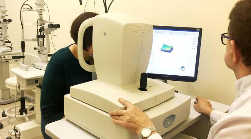 Расшифровка снимка корегентной томографии глаз